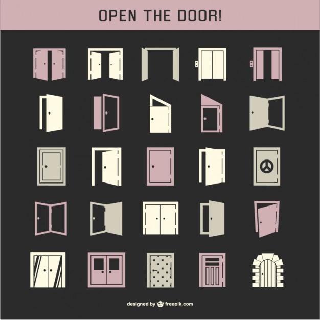 Door icon pack  Vector |   Download