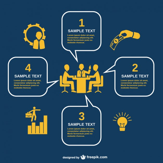 Business meeting infography   Vector |   Download