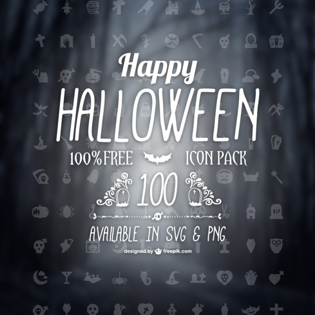 Halloween icons pack  Vector |   Download