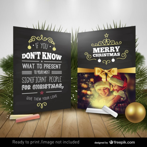 Motivational Christmas card  Vector     Download