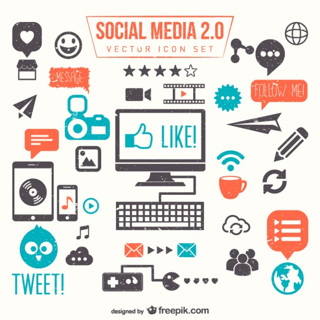 Social media 2.0 vector set   Vector     Download