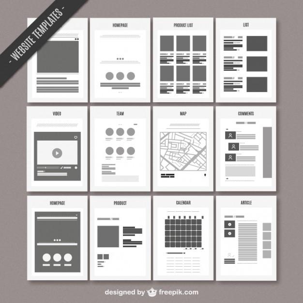 Website map template  Vector |   Download