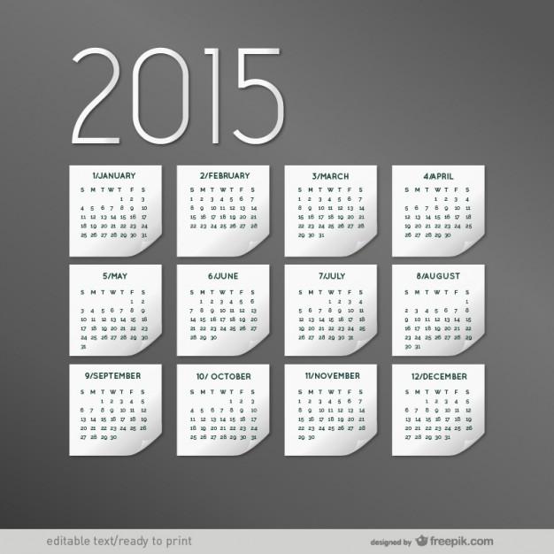 Elegant 2015 calendar  Vector |   Download