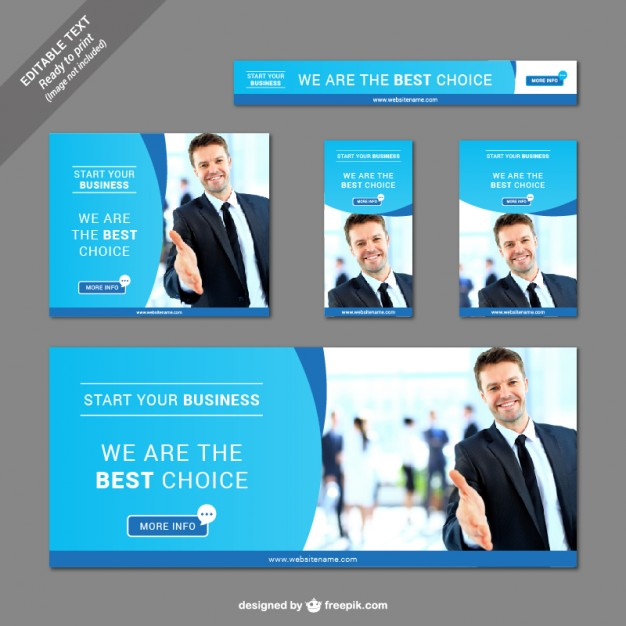Collection of business banners  Vector |   Download