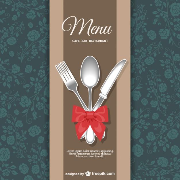 Restaurant menu floral design   Vector |   Download