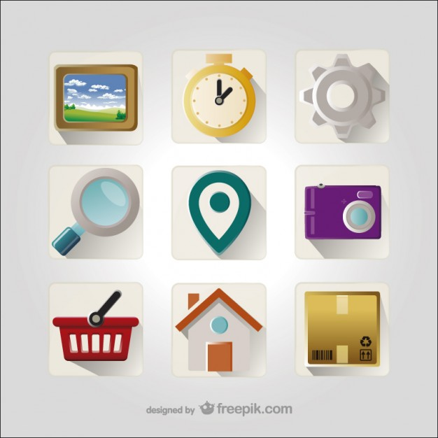 3D Icons collection  Vector |   Download