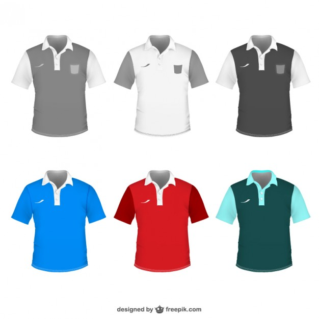 Polo shirt vector template  Vector |   Download