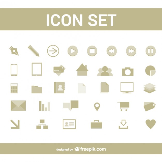 Simple icons set  Vector |   Download