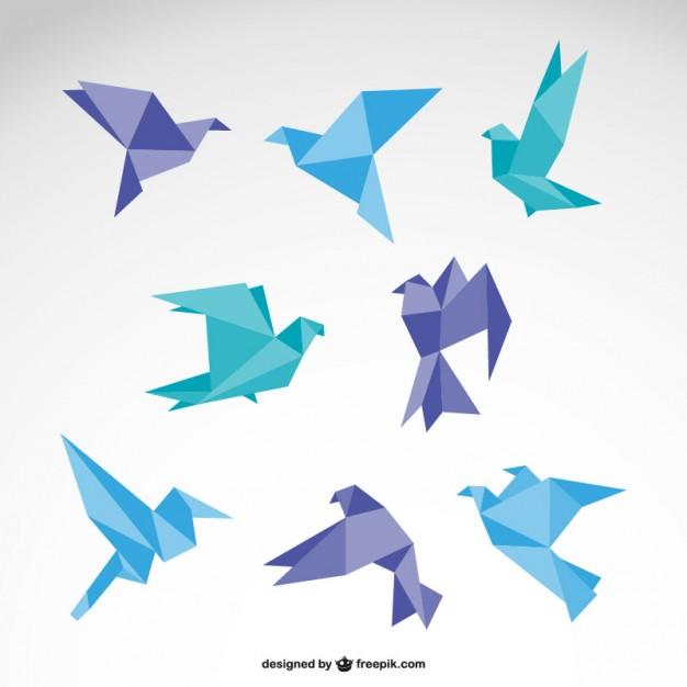 Origami vector  logo set   Vector     Download