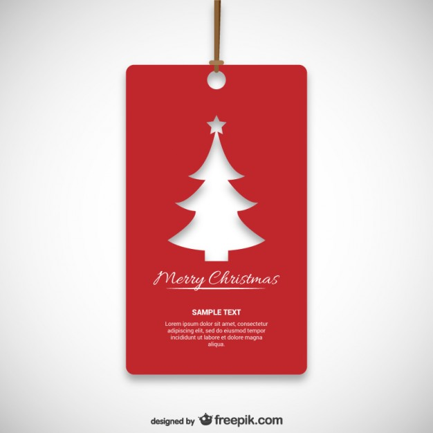 Christmas red tag  Vector     Download