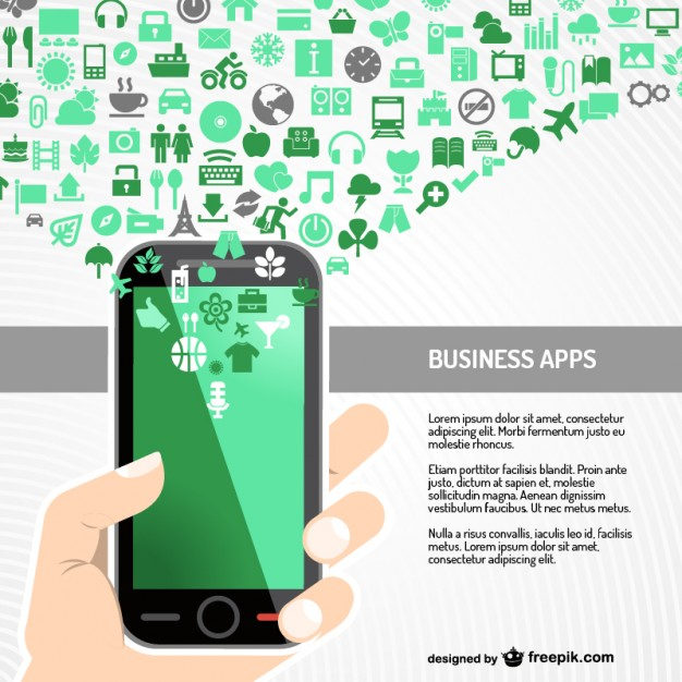Business app  vector  Vector |   Download