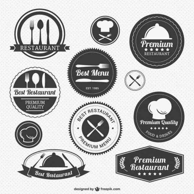 Vintage restaurant logos pack  Vector     Download