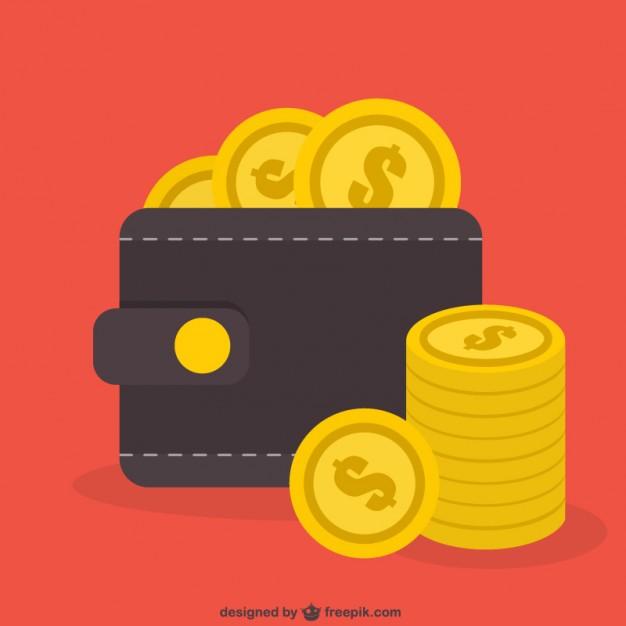Dollar coins vector  Vector |   Download