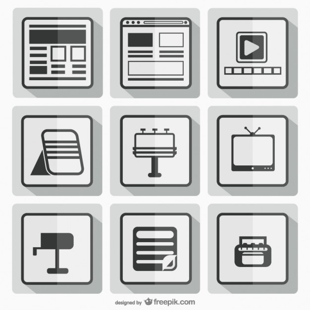 Black and white square icons  Vector |   Download