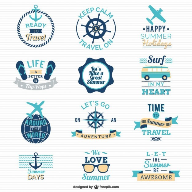Traveling and sailing logos  Vector |   Download