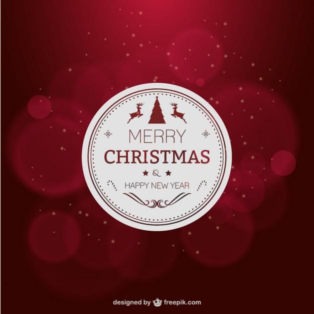 Elegant red Christmas card  Vector     Download