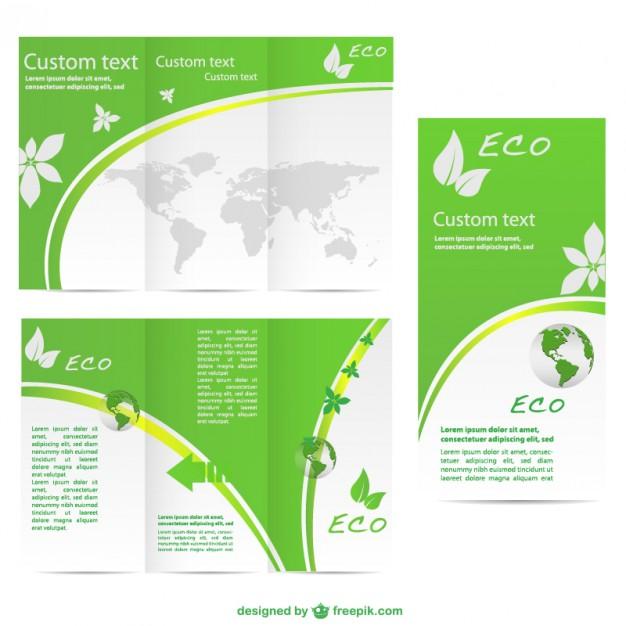 Green brochurevector  template   Vector |   Download
