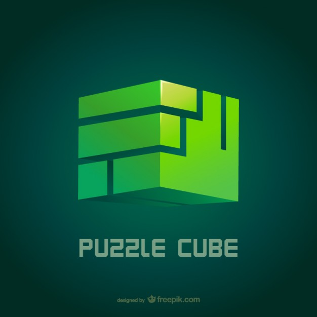 Puzzle cube vector  Vector |   Download