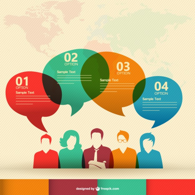 Human communication vector infographic   Vector     Download