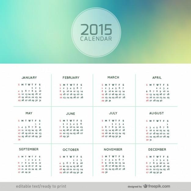 Abstract 2015 calendar  Vector |   Download
