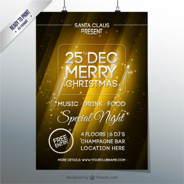 Christmas party brochure  Vector |   Download