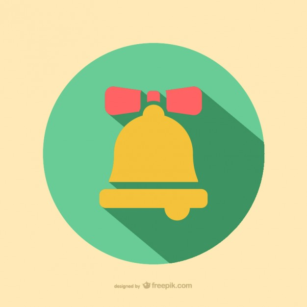 Christmas bell icon  Vector |   Download