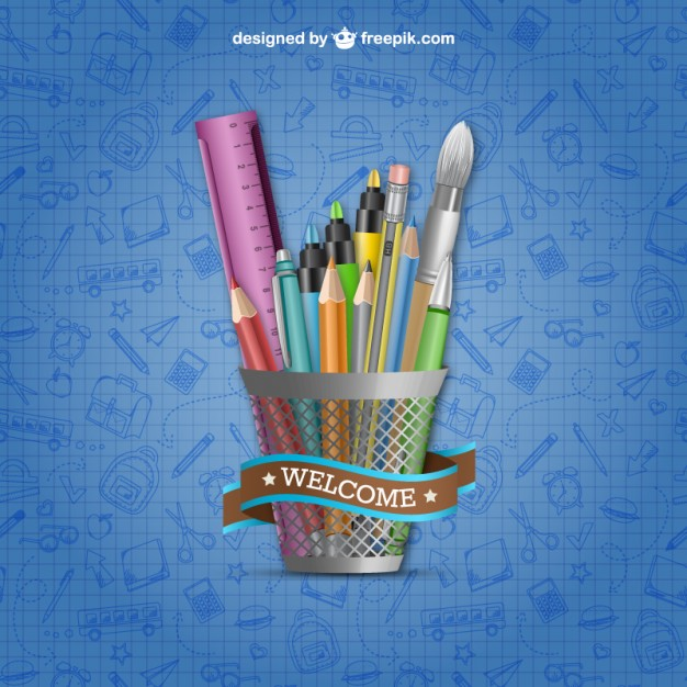 Welcome to school vector  Vector |   Download
