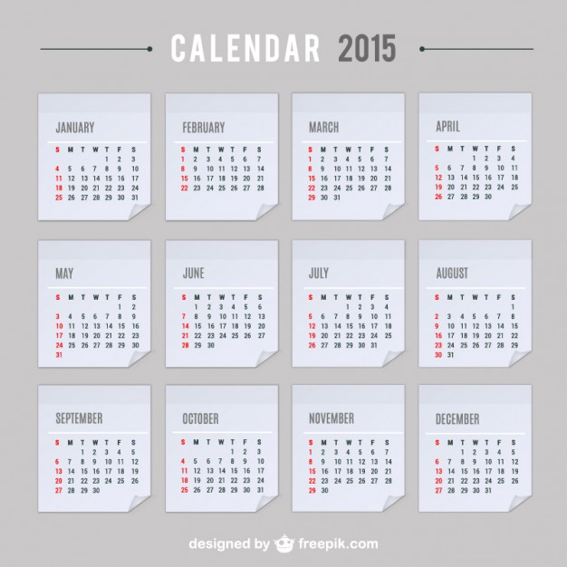 2015 Calendar vector  Vector |   Download