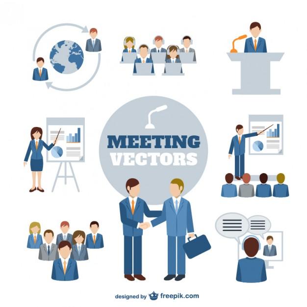 Business meeting vector graphics   Vector |   Download