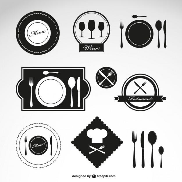 Restaurant vector symbols set   Vector |   Download
