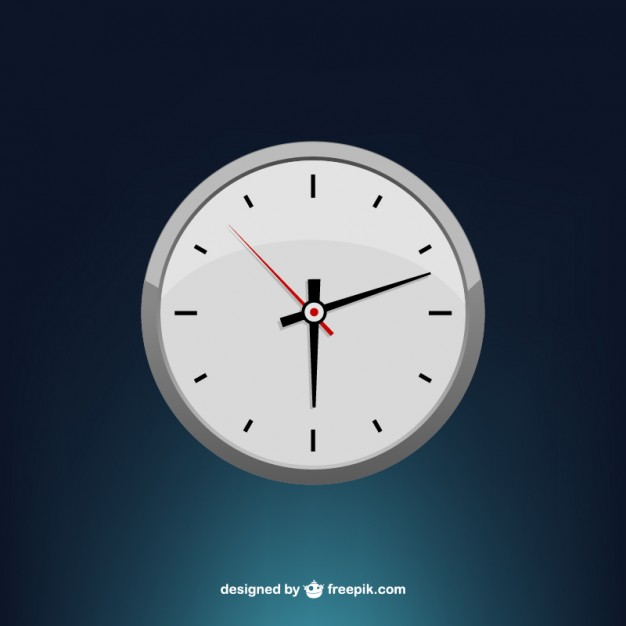 Stylized minimal clock face vector  Vector |   Download