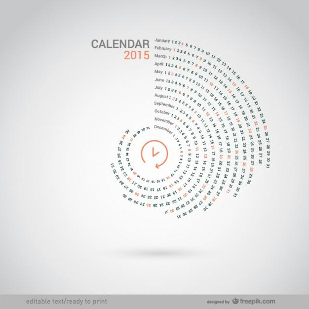 Round 2015 calendar  Vector |   Download