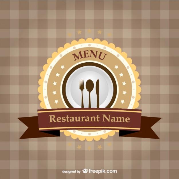 Restaurant brand ribbon template   Vector |   Download
