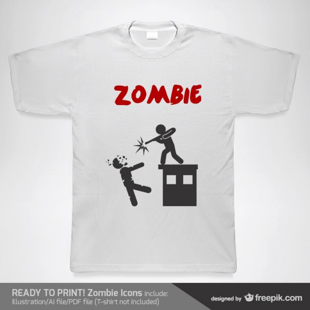 T-shirt zombie vector template  Vector |   Download