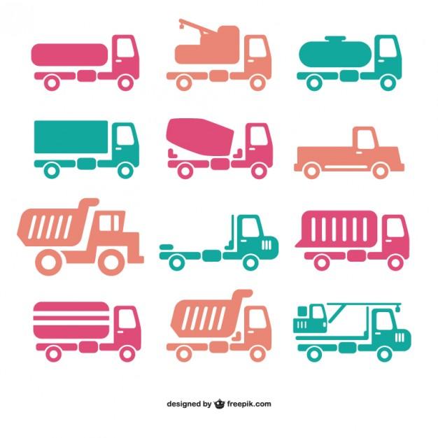 Truck icon vectors  Vector |   Download