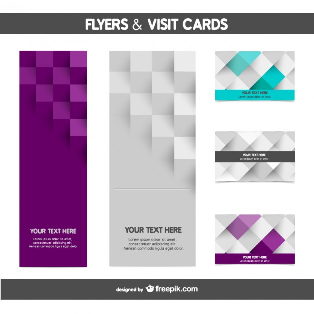 Mosaic flyer and card templates  Vector |   Download