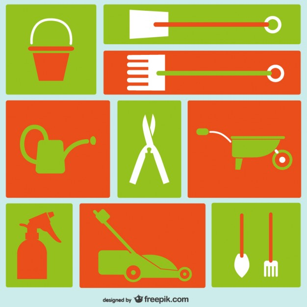 Gardening tools icons  Vector |   Download