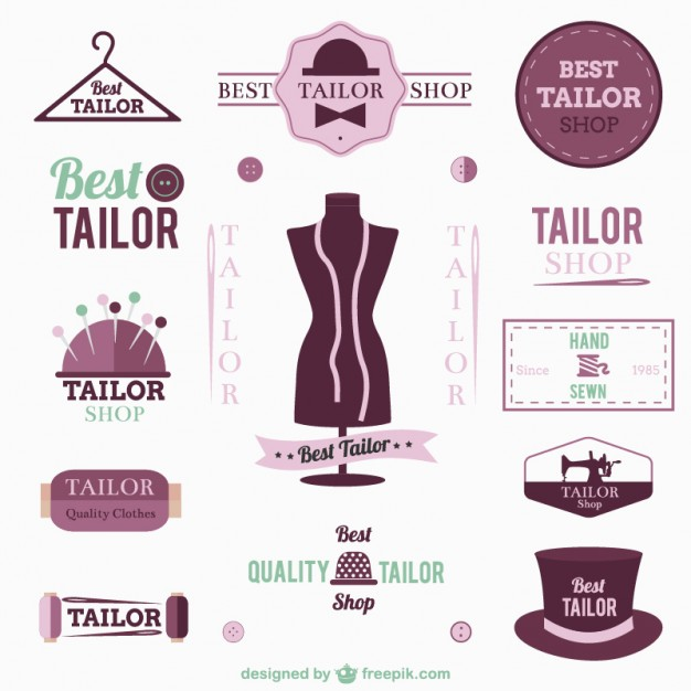 Tailor logos and badges   Vector     Download