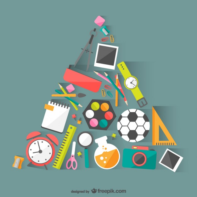 School materials vector  Vector |   Download