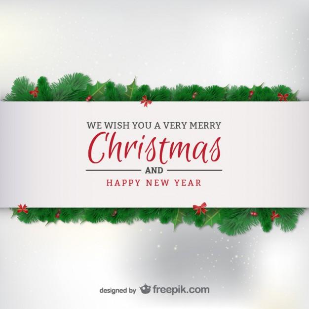 Elegant minimalist Christmas card  Vector     Download