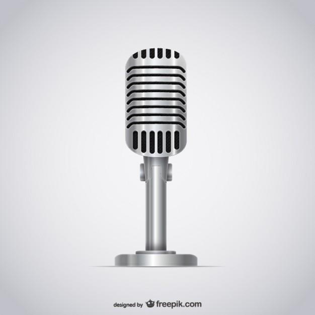Microphone illustration vector  Vector |   Download