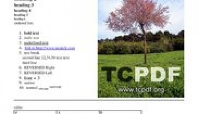 TCPDF – PHP class for PDF