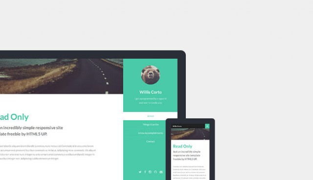 Read Only HTML5 Responsive Template