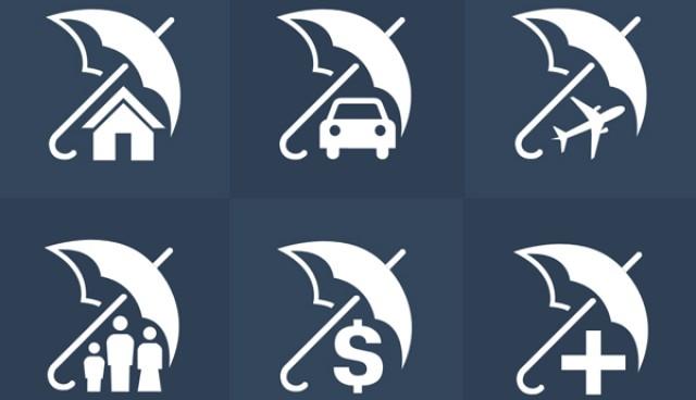 Insurance Icons Set (PSD)
