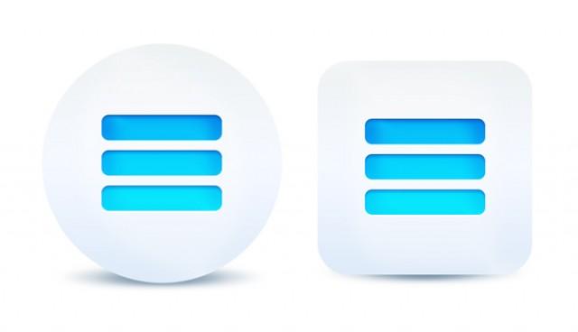 Expand menu button (PSD)