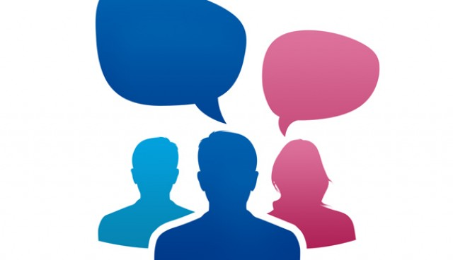 Team conversation icon (PSD)
