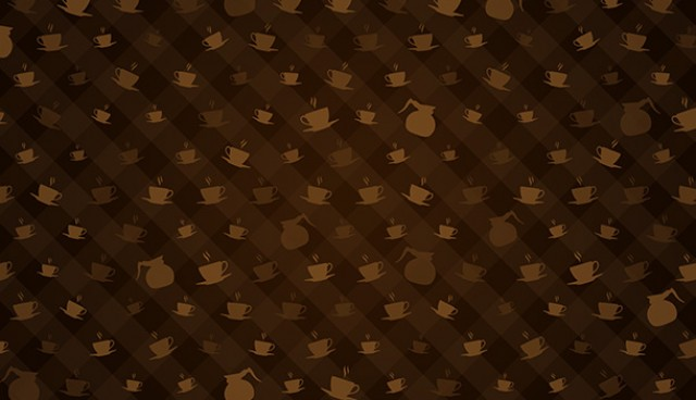 Brown coffee pattern