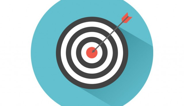 Dart on target icon (PSD)