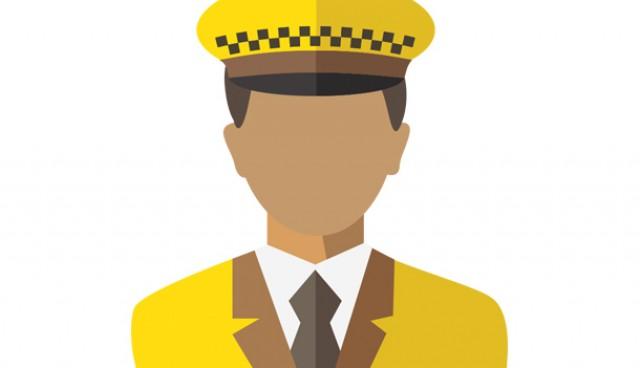 Taxi driver icon (PSD)