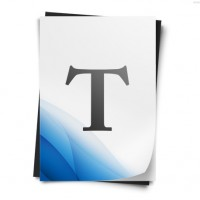 Text document icon (PSD)